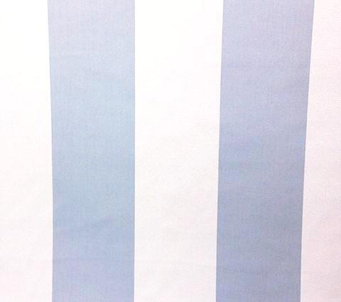 China Seas Fabric: Soho Stripe - Custom Bluish on Off-White Suncloth (Outdoor Quality)
