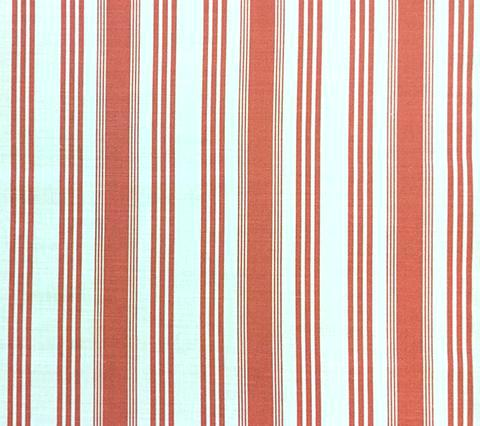Quadrille Prints: Lane Stripe  - Custom Coral striped print on Tinted Belgian Linen/Cotton