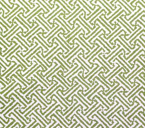 China Seas Fabric: Java Java - Custom New Jungle Green on White