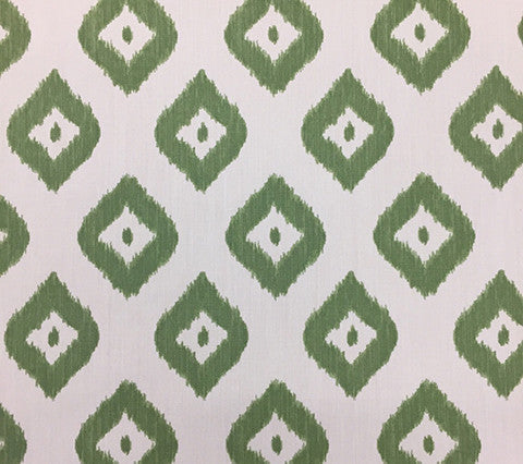 China Seas Fabric: Bali Diamond - Custom Green on Vellum Suncloth