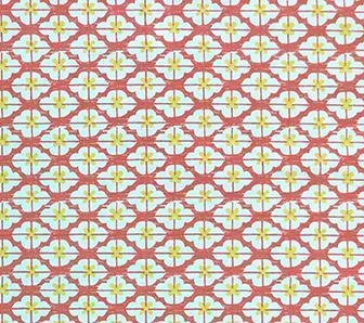 China Seas Fabric: Kyoto Two Color - Custom Shrimp / Yellow on Tinted Belgian Linen/Cotton