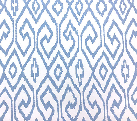 China Seas Wallpaper: Aqua 4 - Custom French Blue on White Paper