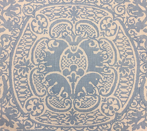Quadrille Prints: Veneto - Custom Soft Windsor Blue Light