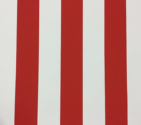 China Seas Wallpaper Sand Bar Stripe Custom Strawberry Red wide stripes on White Paper
