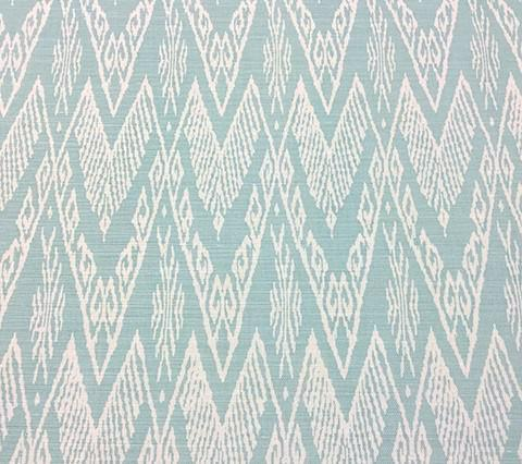 China Seas Fabric: Raffles Reverse - Custom Green on Tinted Belgian Linen/Cotton