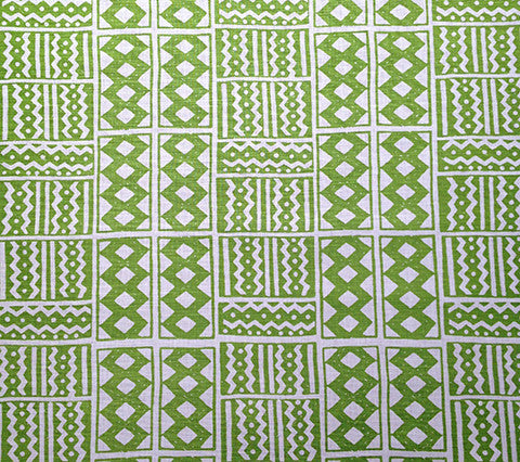Alan Campbell Fabric Tie Dye Custom Dark Lime Green on Tinted Belgian Linen Cotton