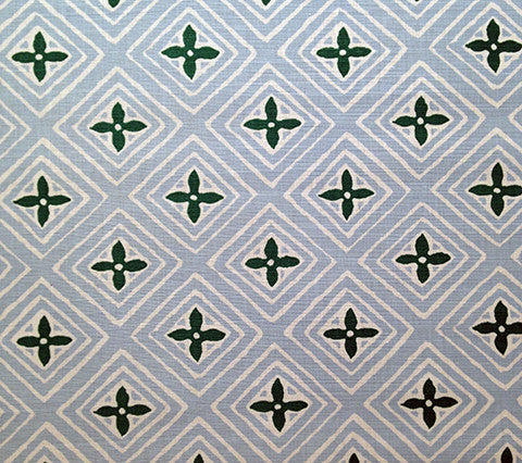 China Seas Fabric: Fiorentina Two Color - Custom Hunter Green / Wind Blue