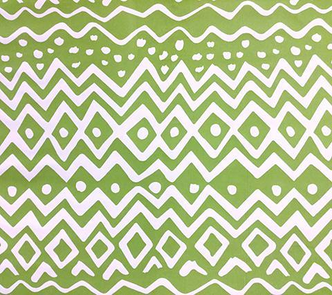 Alan Campbell Fabric: Deauville - Custom Greens on White Suncloth