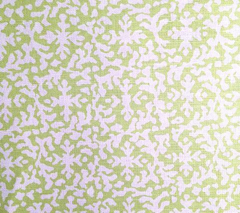 Alan Campbell Fabric: Laurel Reverse - Custom Bright Fern Green on White Belgian Linen/Cotton