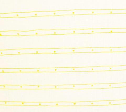 Alan Campbell Fabric: Soho - Custom Taxicab Yellow One Color Stripes on White Belgian Linen Cotton