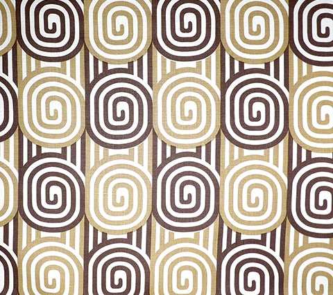 Alan Campbell Fabric: Wavelength - Custom Browns on Oyster 100% Heavy Linen