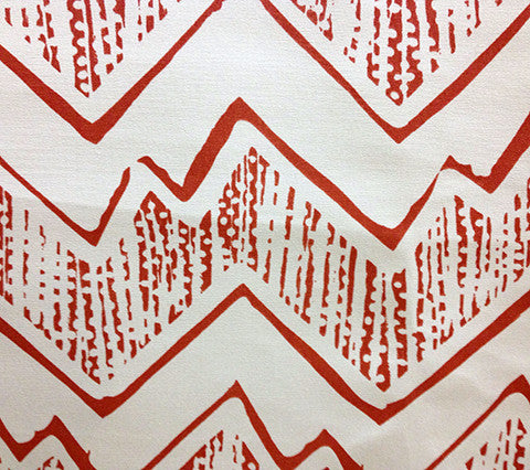 Alan Campbell Fabric Montecito Custom Coral on Vellum Sunbrella Suncloth Indoor Outdoor Quality