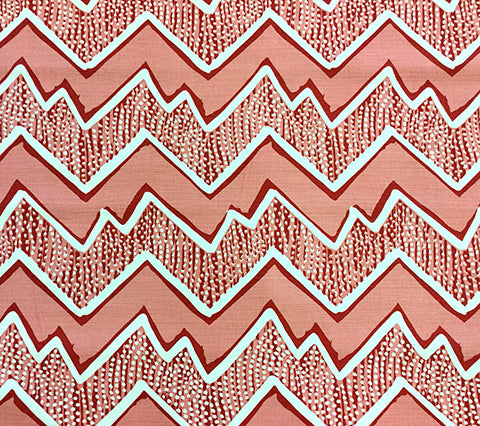 Alan Campbell Fabric: Montecito - Custom Corals on Tinted Belgian Linen/Cotton