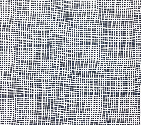 Alan Campbell Fabric: Criss Cross - Custom Navy on White Belgian Linen/Cotton