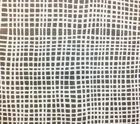 Alan Campbell Fabric: Criss Cross - Custom Gray on White
