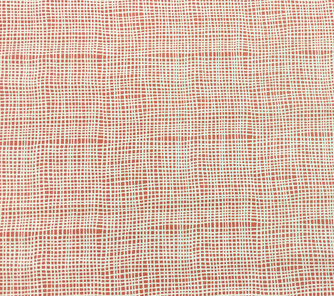 Alan Campbell Fabric: Criss Cross - Custom New Shrimp on Tinted Belgian Linen/Cotton