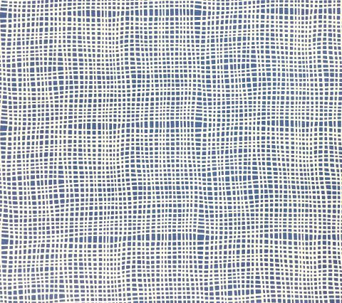 Alan Campbell Fabric: Criss Cross - Custom French Blue on Tinted Belgian Linen/Cotton