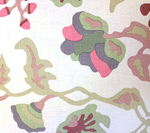 Alan Campbell Fabric: Potalla - Custom Pale Greens / Pinks