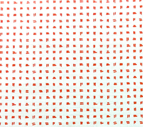 Alan Campbell Fabric: Tate - Custom Orange on White Belgian Linen/Cotton
