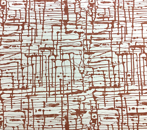 Alan Campbell Fabric: Twill - Custom Sienna on Oatmeal Belgian Linen/Cotton