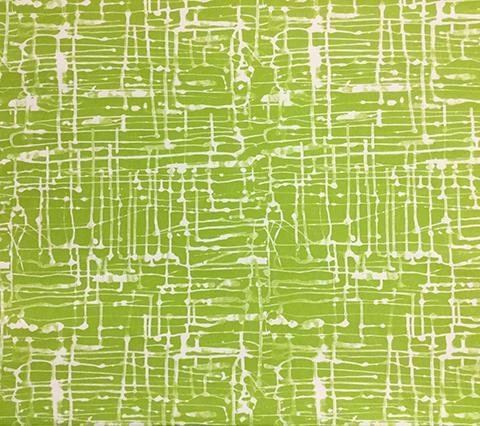 Alan Campbell Fabric: Twill Reverse - Custom Jungle Green on Natural White Suncloth
