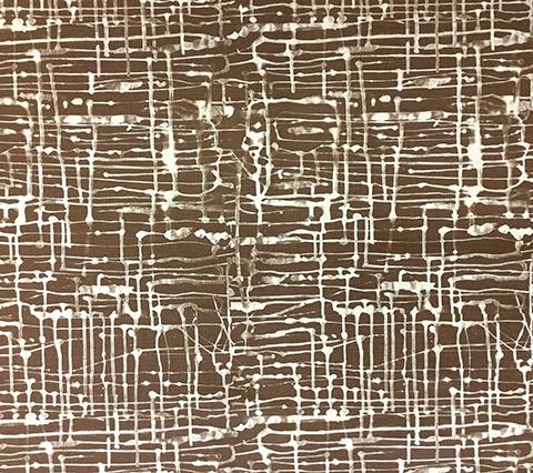 Copy of Alan Campbell Fabric: Twill Reverse - Custom New Brown on Oatmeal Belgian Linen/Cotton