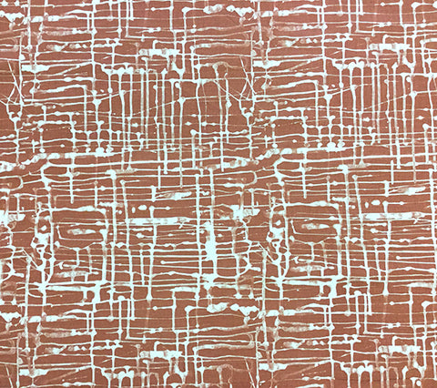 Alan Campbell Fabric: Twill Reverse - Custom Sienna on Oatmeal Belgian Linen/Cotton