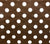 China Seas Fabric Charade Custom Brown with White Polka Dots on Belgian Linen Cotton