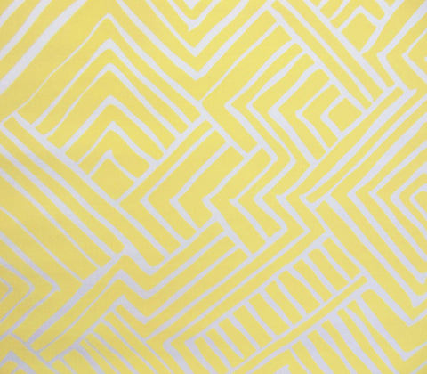 Alan Campbell Fabric: Melinda - Custom Yellow on White Suncloth Sunbrella