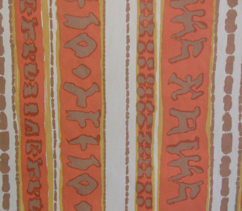 China Seas Fabric Abaco Stripe Terracotta Orange Beige on Vellum Suncloth Sunbrella Indoor Outdoor Quality