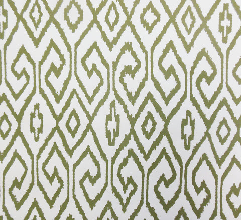 China Seas Wallpaper: Aqua 4 - Custom Chopped Dill on Cream Paper