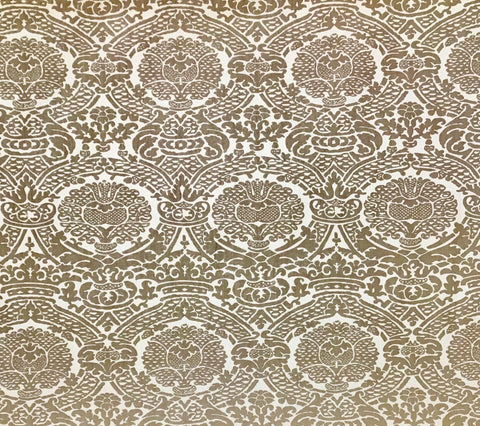 Home Couture Fabric: Principessa - Taupe On Tan 100% Washed Belgian Linen