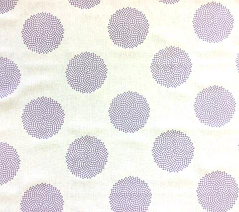 Home Couture Fabric: Mystery - Custom Lilac on Ecru 100% Belgian Linen