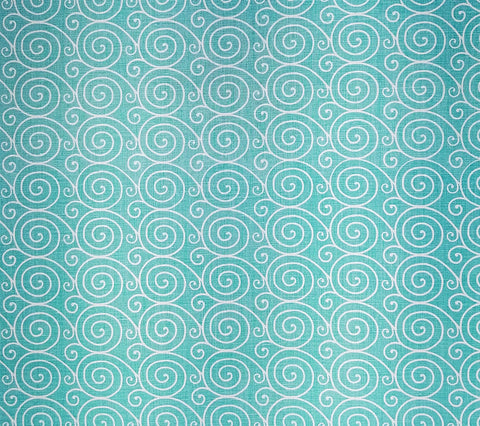 Home Couture Fabric: Meditation Reverse - Turquoise on Oyster 100% Belgian Basketweave Linen