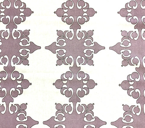 Home Couture Fabric: Argentine - Custom Cinnamon Slate / Chocolate on White 100% Belgian Linen