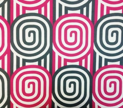 Alan Campbell Fabric Wavelength Custom Magenta and Gray on Suncloth Sunbrella Indoor Outdoor Quality