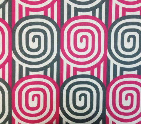 Alan Campbell Fabric: Wavelength - Custom Magenta / Gray on Suncloth