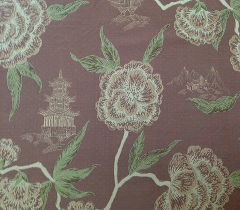 China Seas Fabric: Kyoto - Coco Multi on Trevira (Commercial Quality)