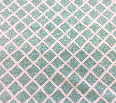 Quadrille Fabric: Shanghai - Custom Multi Turquoise on White Belgian Linen/Cotton