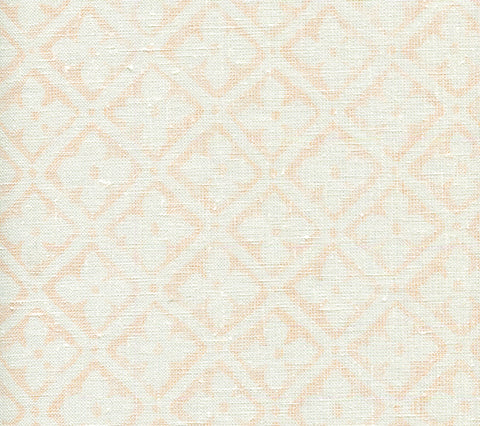 Quadrille Fabric: Puccini - Custom Soft Peach on White Belgian Linen/Cotton