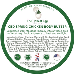 CBD Spring Chicken Body Butter - 250 mg