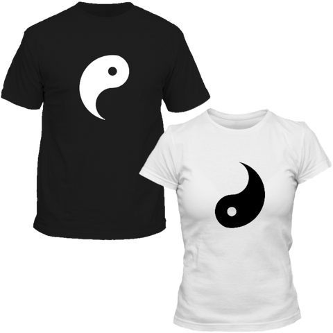 T-Shirts Couple assortis Yin Yang