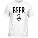 T-Shirt Couple Beer Blanc Homme