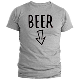 T-Shirt Couple Beer Gris Homme