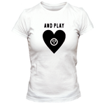 T-Shirt cœur and play femme blanc