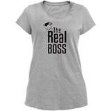 T-Shirt Homme the real boss gris