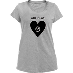 T-Shirt cœur and play femme gris