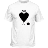 T-shirt homme blanc plug couple