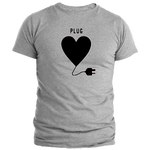 T-shirt homme gris plug couple