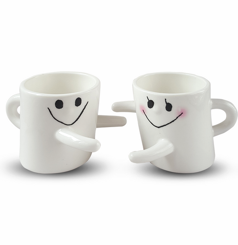 Mugs Couple câlin blanc mignon cute
